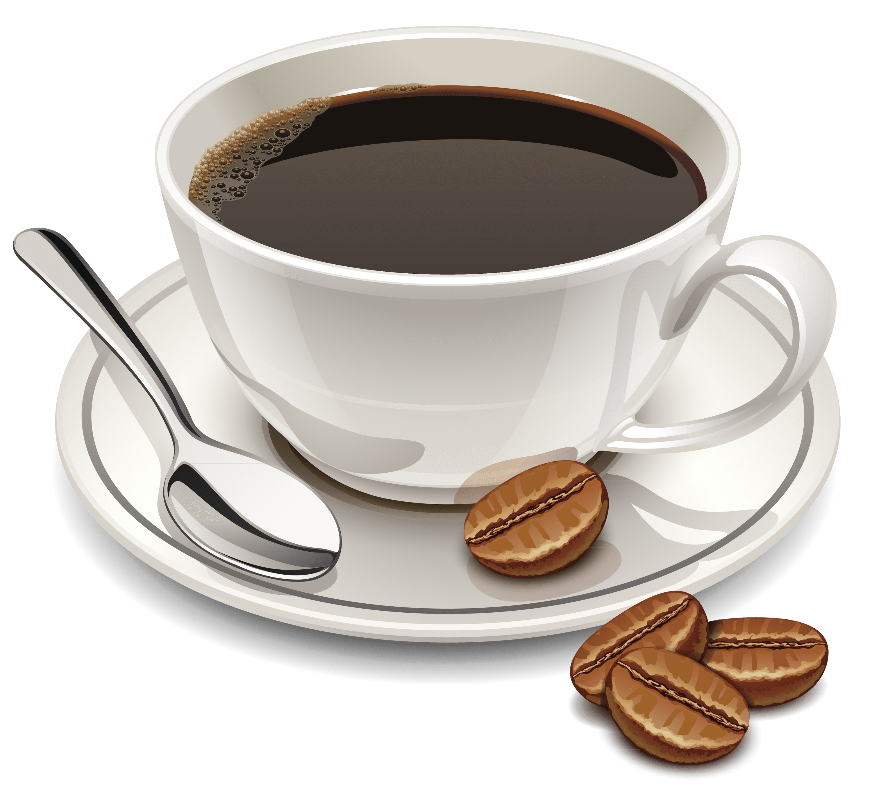 Coffee transparent png. And beans stickpng