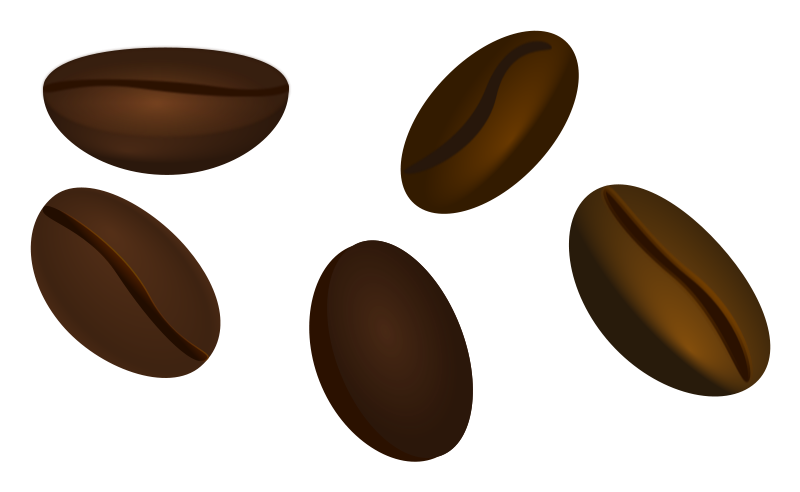 Beans vector coffee grain. Clipart pencil and in