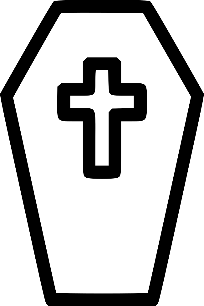 Coffin and candles png. Casket cross svg icon