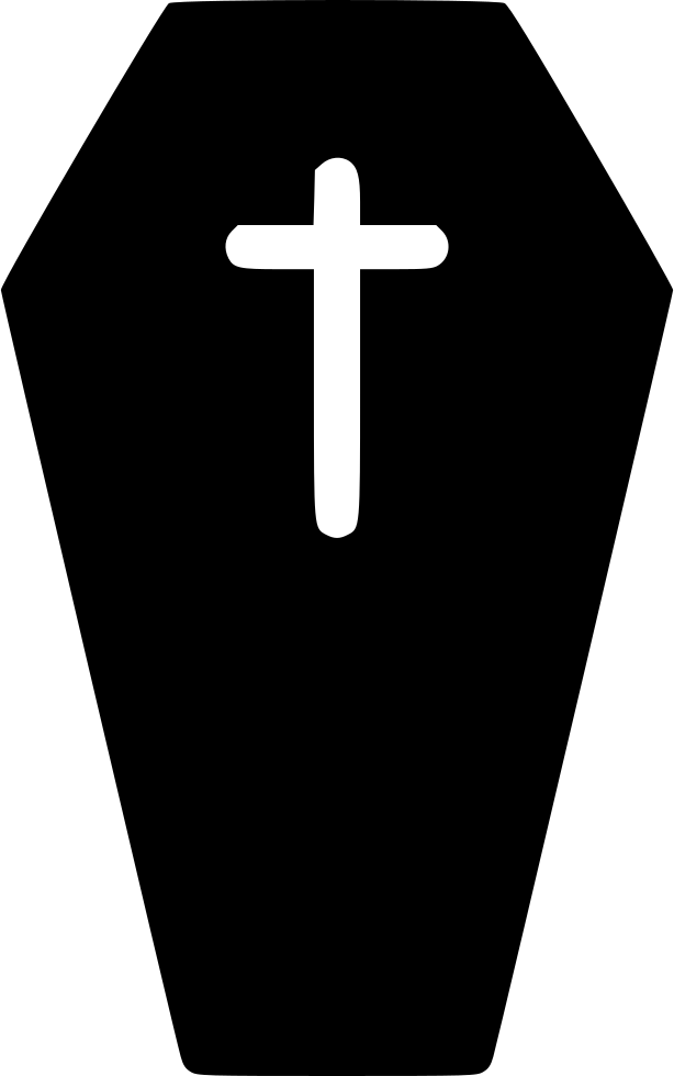 Transparent coffin outline. Svg png icon free