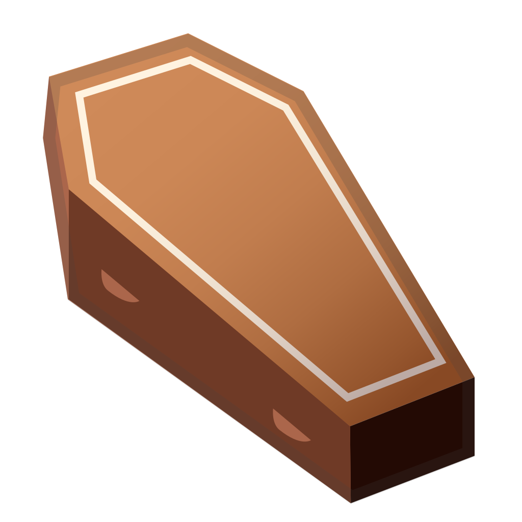 Coffin clipart png. Icon noto emoji objects