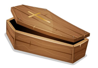 transparent coffin today