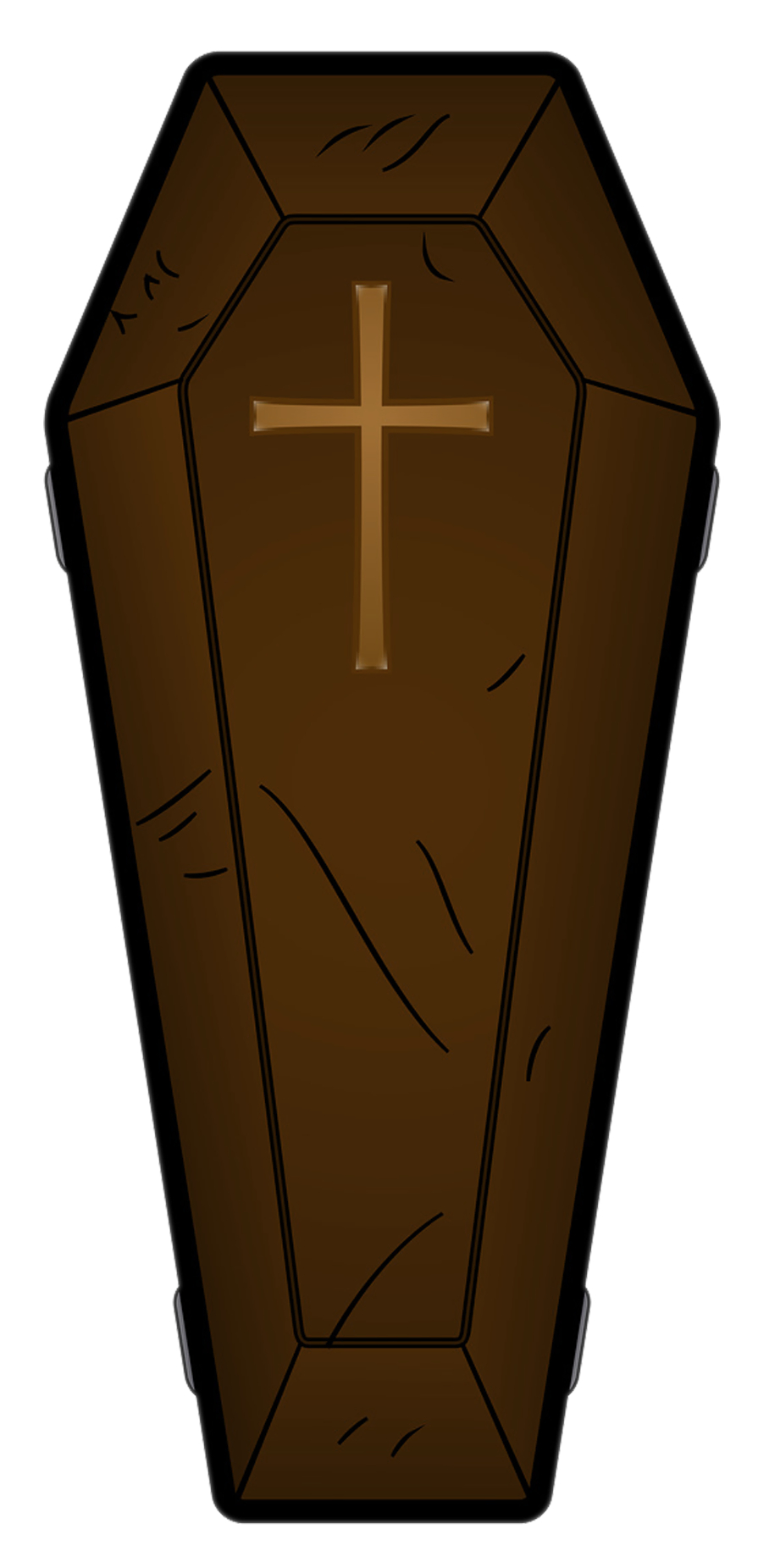 Halloween brown png picture. Coffin clipart graphic free download