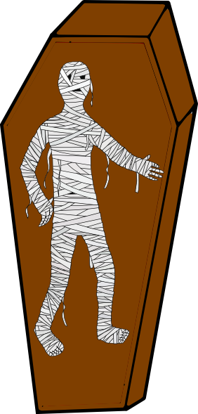 Mummy . Coffin clipart clip art black and white stock