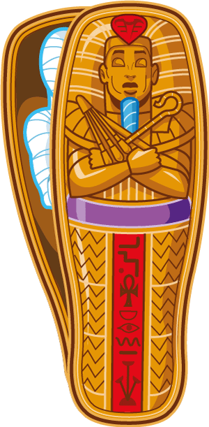 Coffin clipart mummy. Egyptian transparent png stickpng