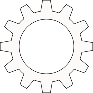 Cogs vector outline