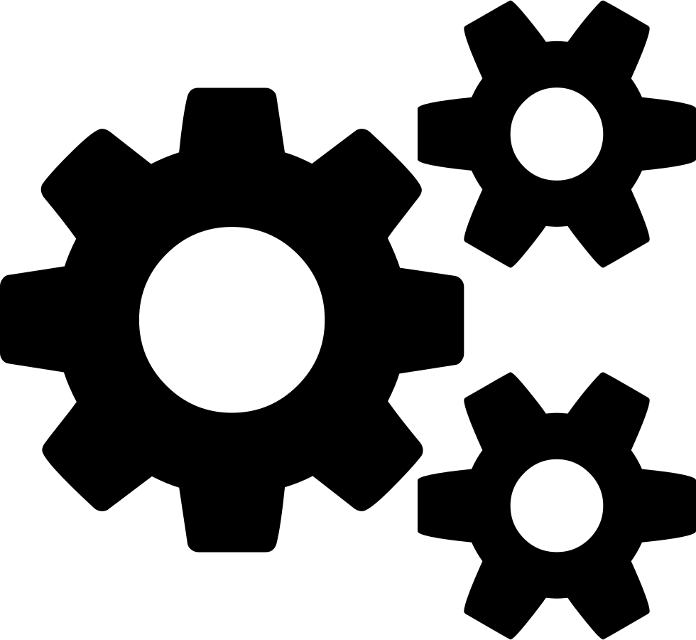 Cogs vector wheel. Svg png icon free
