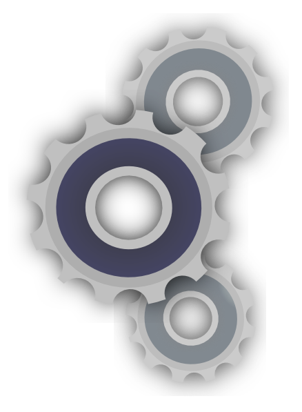 Cogs vector cartoon. Clip art at