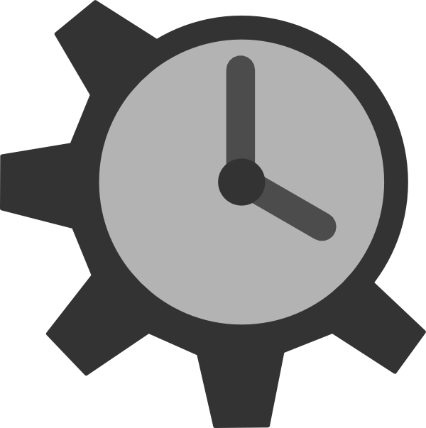 Cogs vector clock. Collection of free cogged