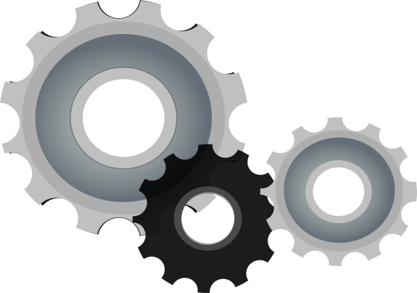 Vector tool steampunk gear. Collection of free gears