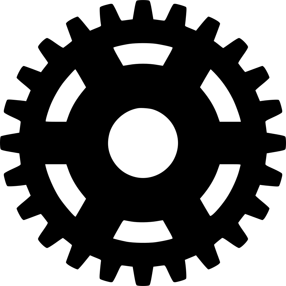 Cogs vector pinion. Svg png icon free