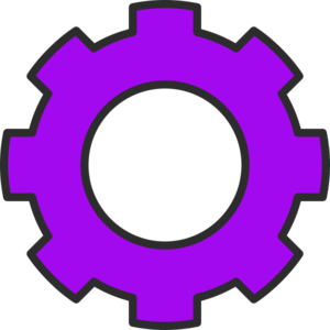 Cogs vector purple. Cog clip art at