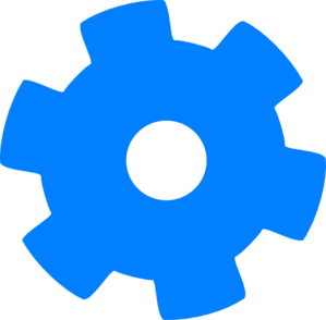 cogs vector blue