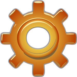 Cogs vector single. Gear clip art at