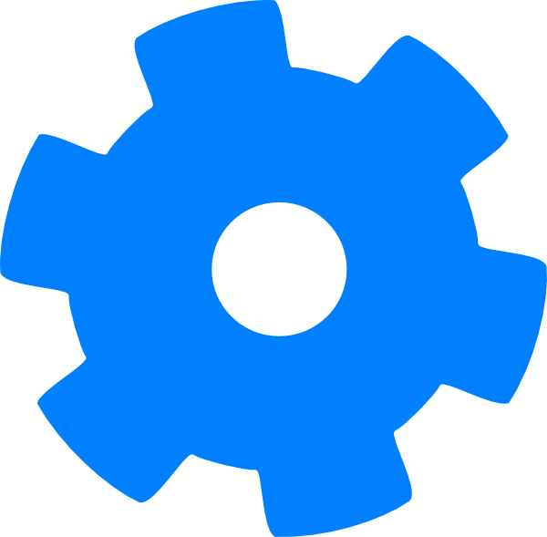 Cogs vector single. Blue cog clip art