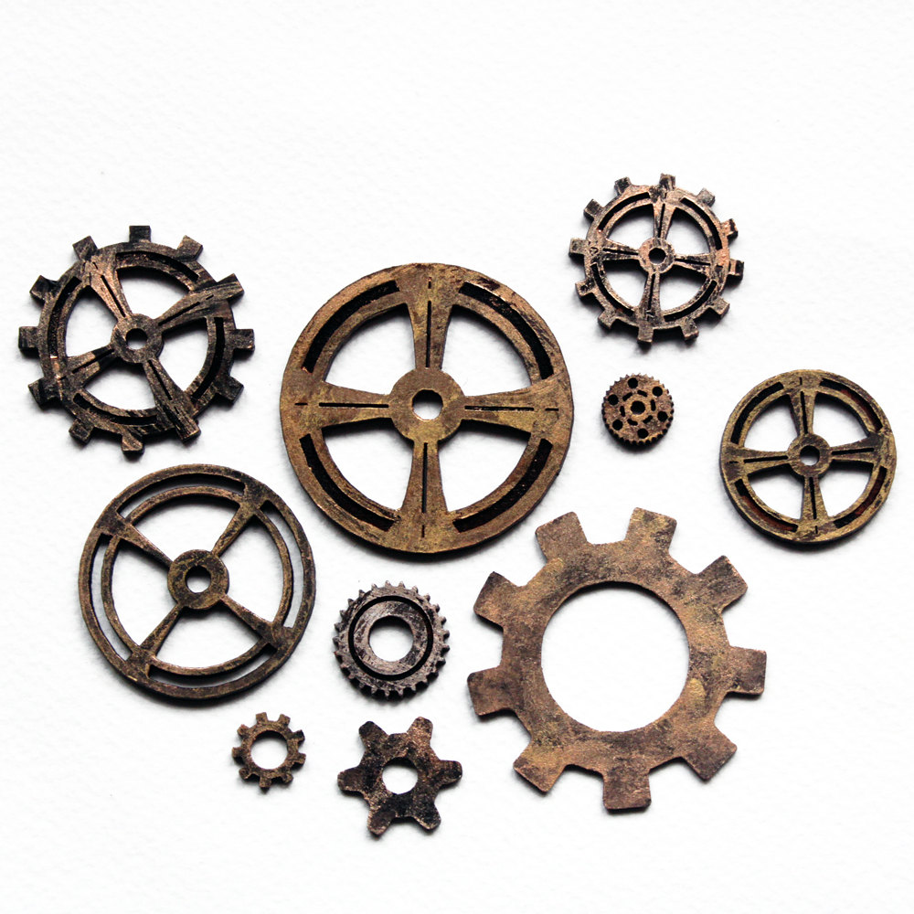 Cogs vector steampunk. And gears by roguevincent
