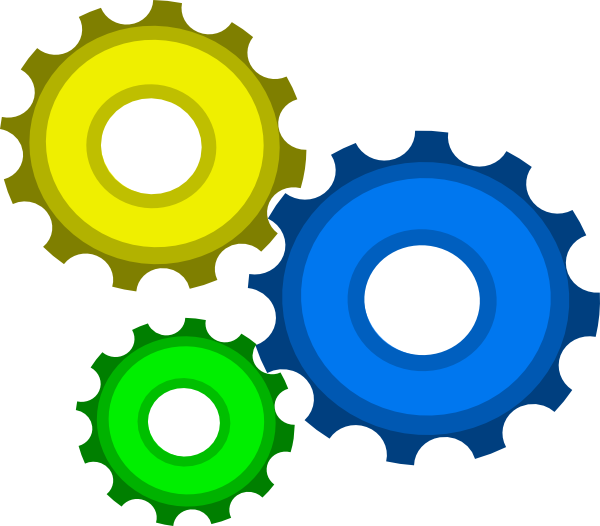 Cogs vector three. Gear combo by mark