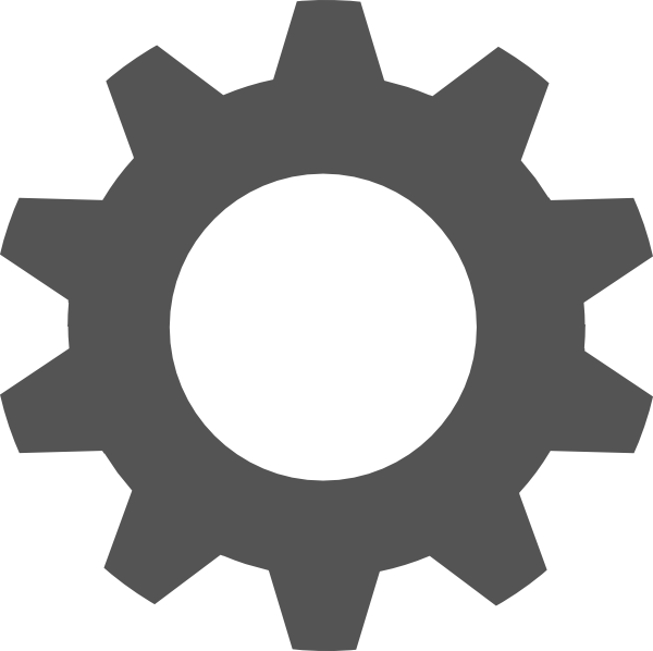 Transparent gear stencil. Silhouette at getdrawings com