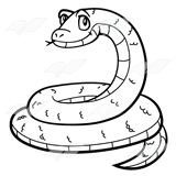 Coil drawing snake. Abeka clip art coiled