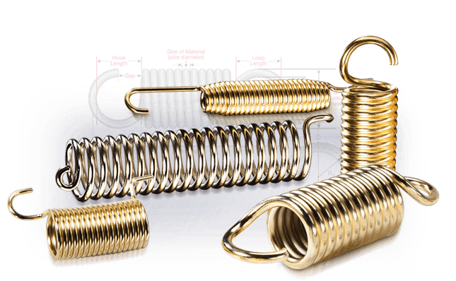 Coil drawing tension spring. Extension calculator newcomb manufacturer