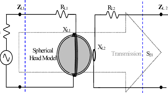 Coil vector circuit. Two coils spherical head