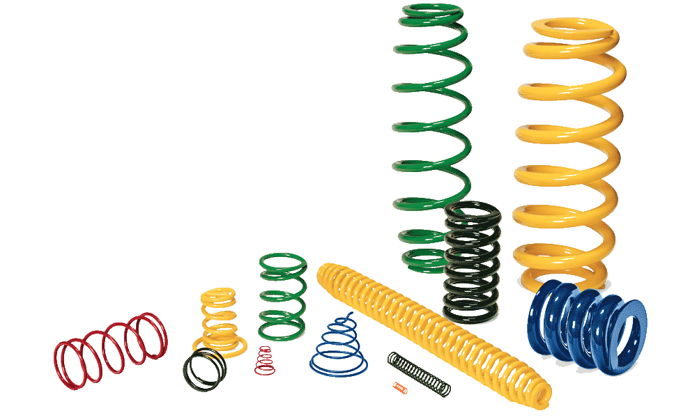 Clip spring coil. Collection of free coiled