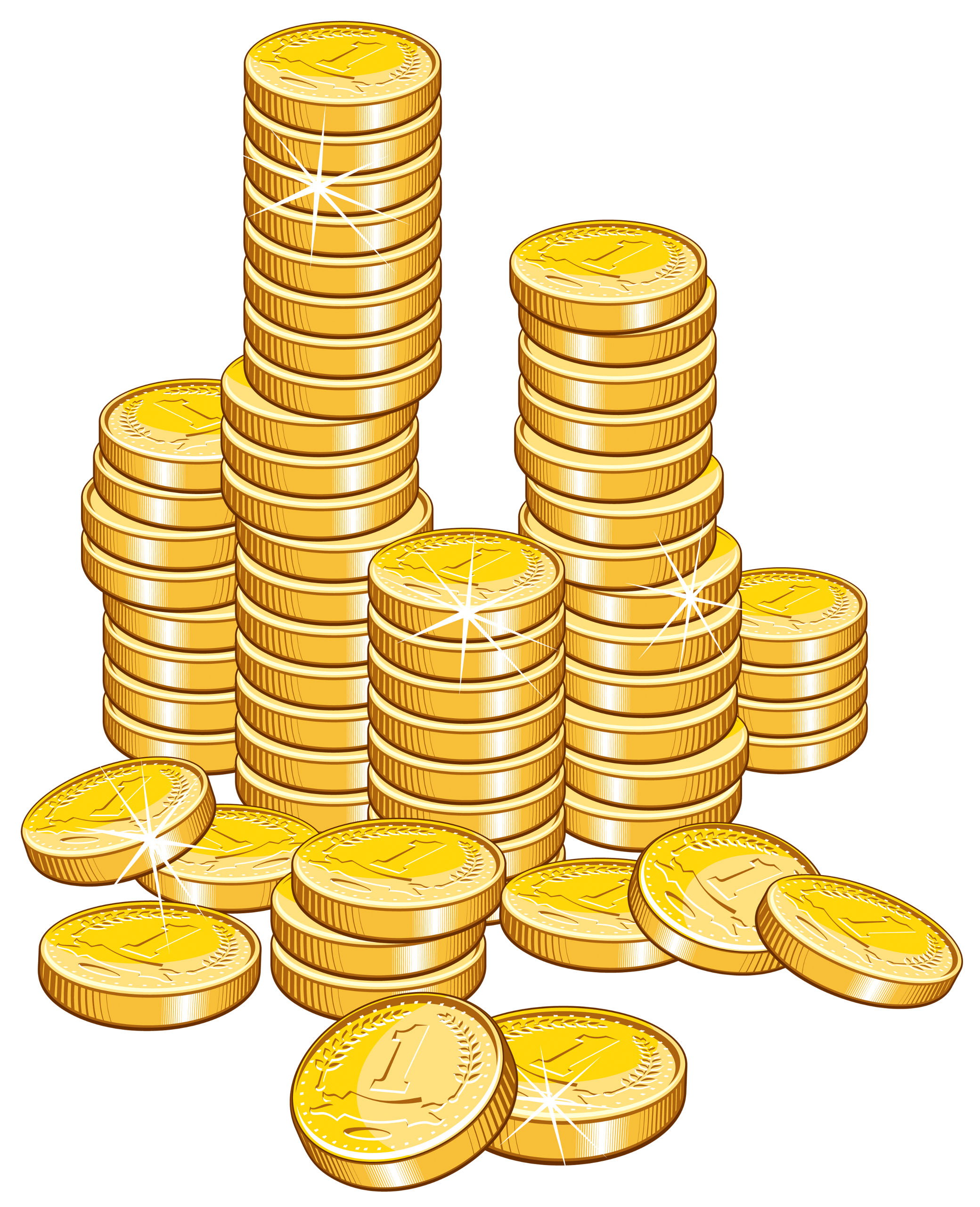 Coin clipart cartoon. Gold coins at getdrawings