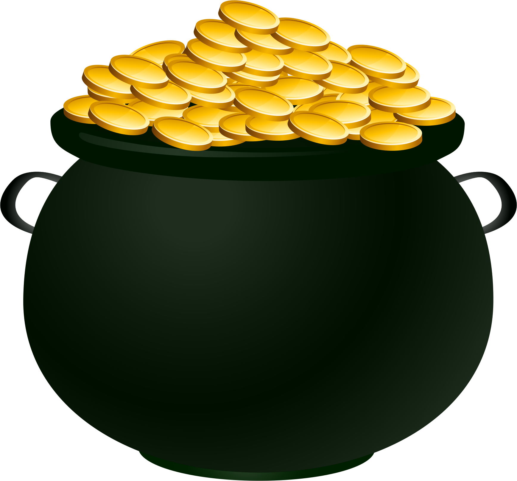 Pot of gold png. Suddenly picture a image