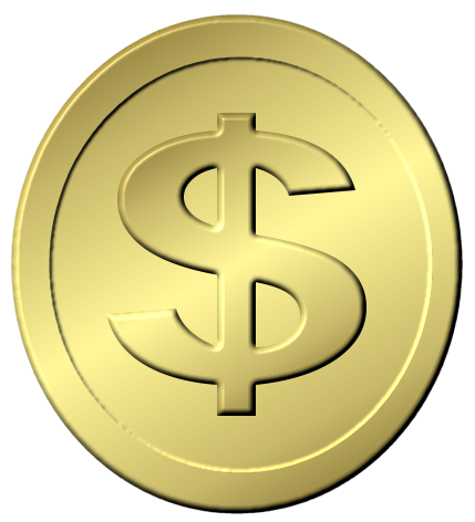 Blank gold coin png. Free coins picture download