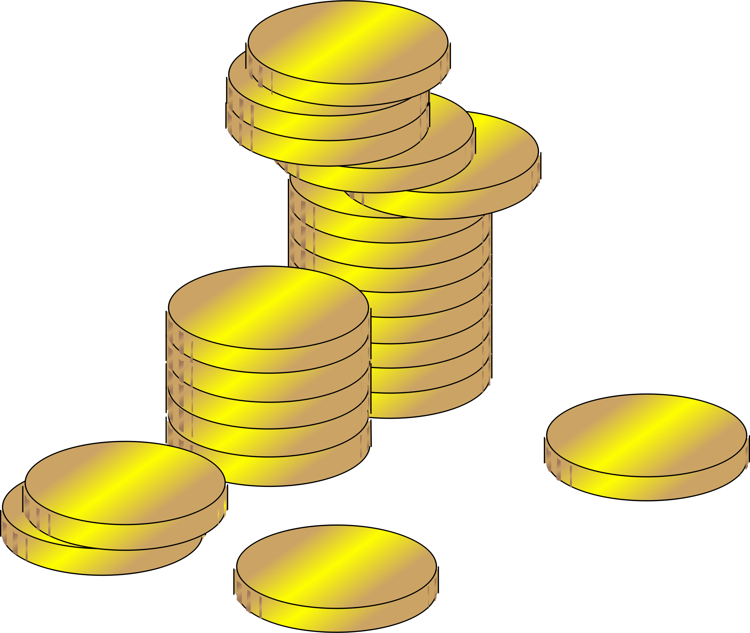 Coin clipart golden coin. Gold coins big image
