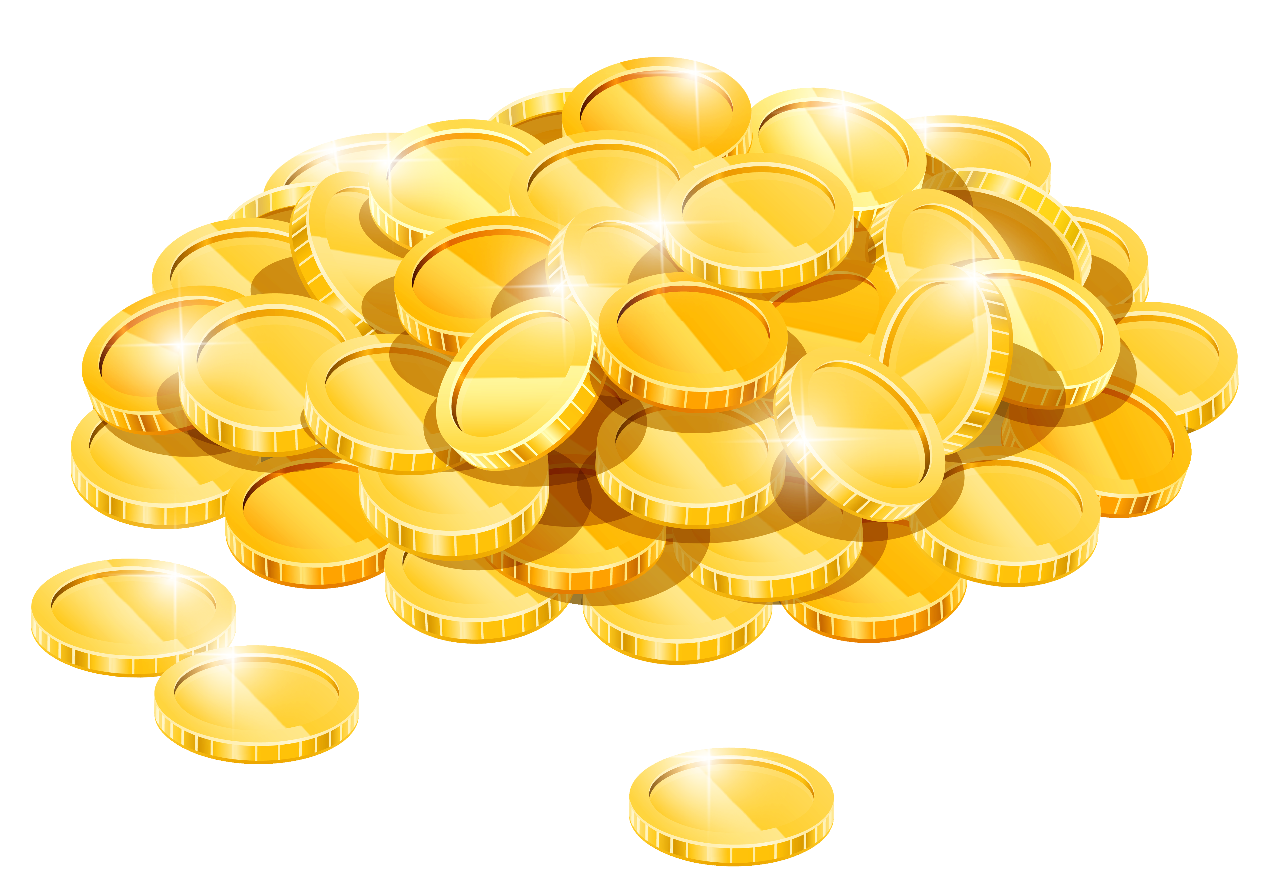 Coin clipart lot money. Gold coins pile png