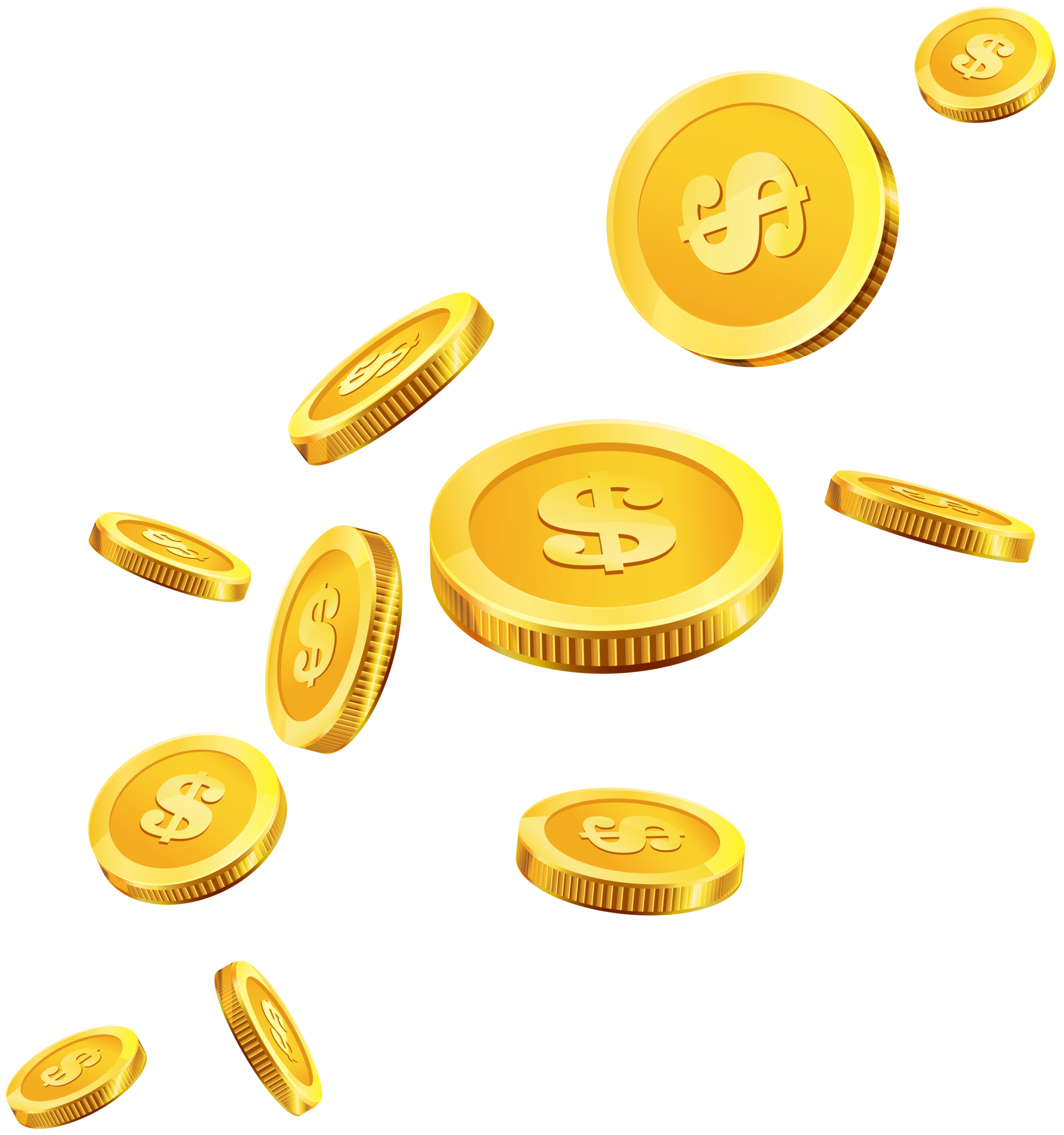 Coin clipart png. Coins gold clip art