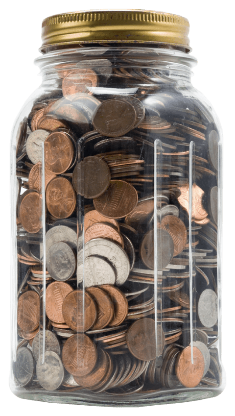 Packed in a of. Penny jar png banner royalty free library