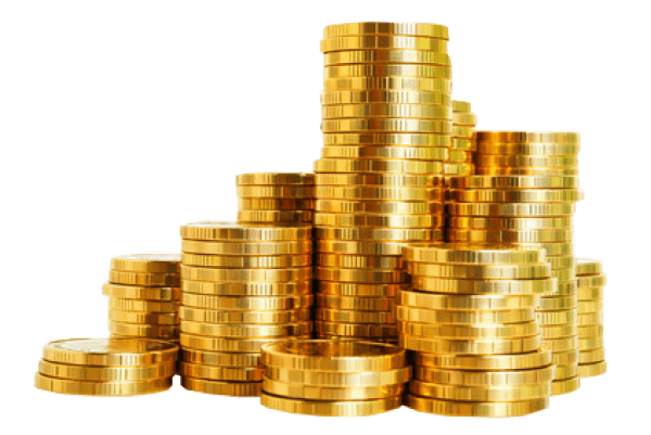 Coin stack png. Gold coins transparent stickpng