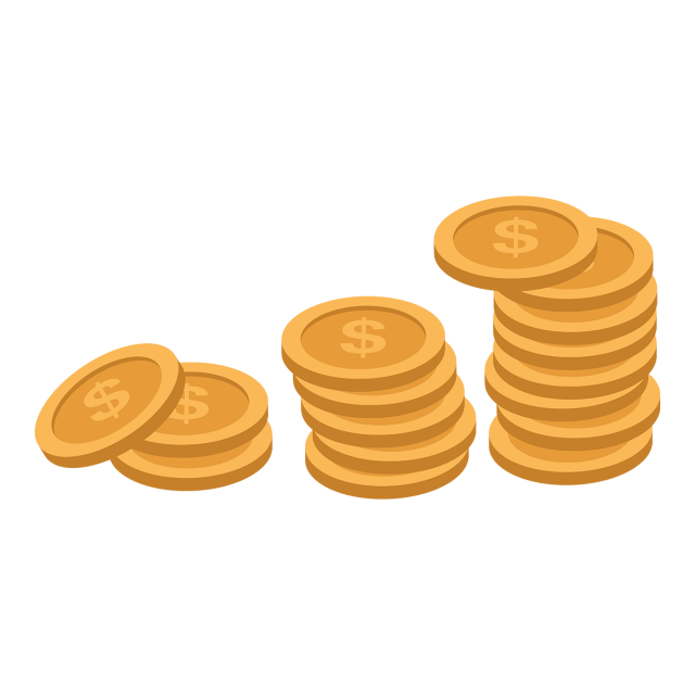 Vector coin png. Dollar money dollars pretty