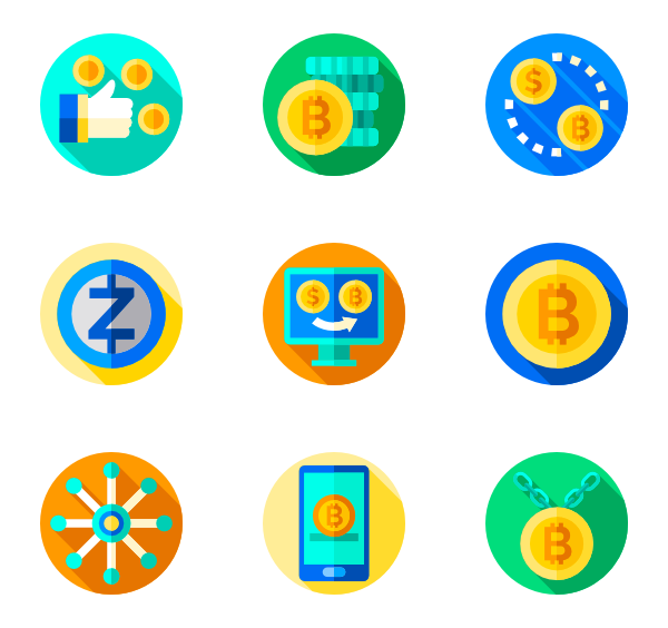 Icons free cryptocurrency. Vector coin png picture transparent library