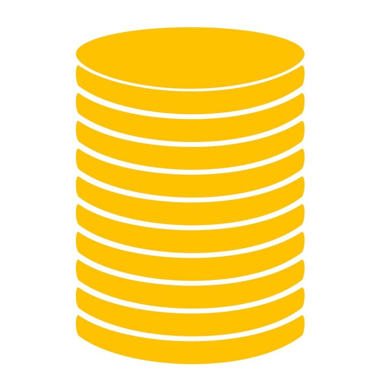 Coin vector png. Stack icon gold free