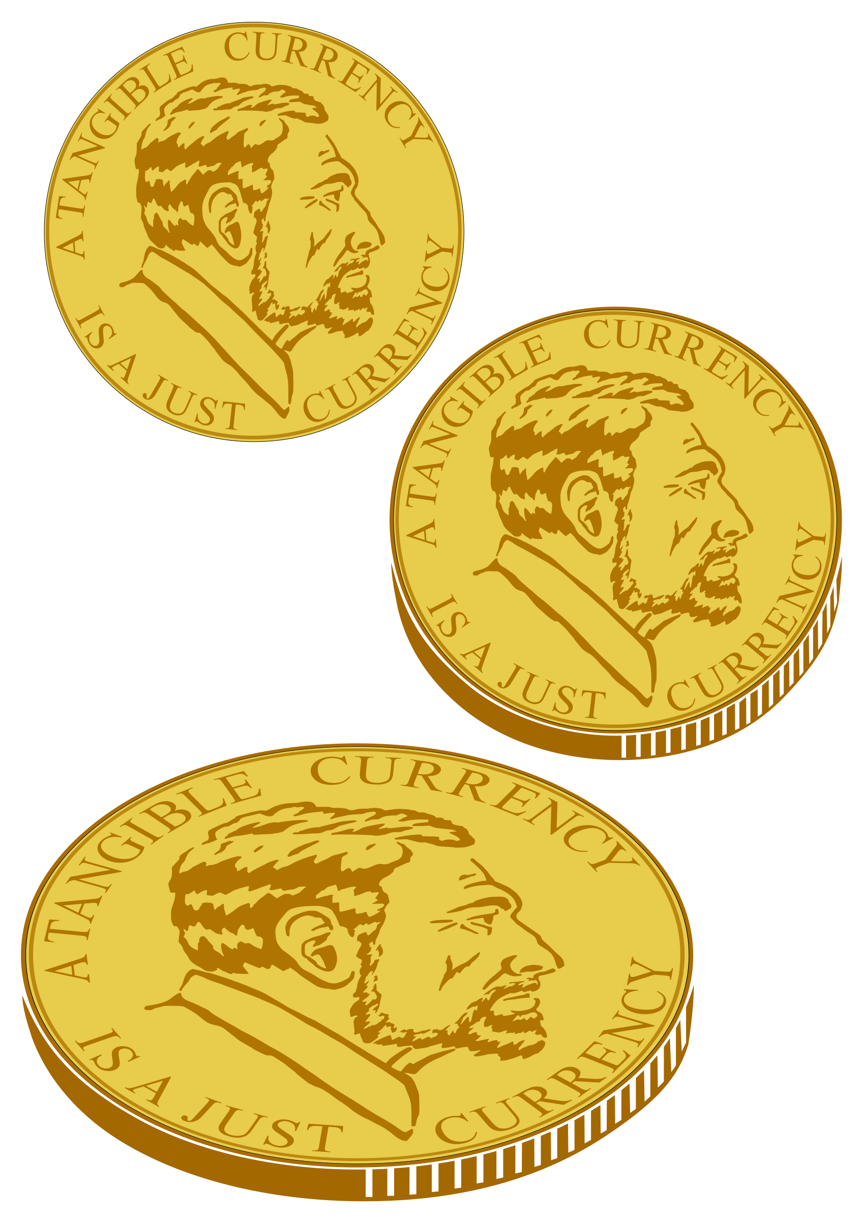 Coins clipart drawn. Gold coin for plotter