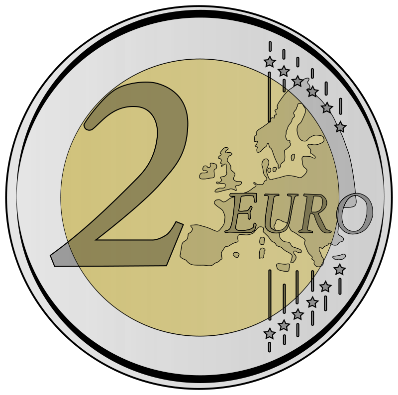 Coins clipart euro. Coin by frankes