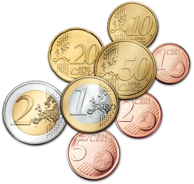 Coins clipart euro. I work in pages