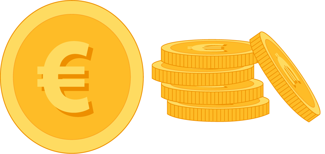 Coins clipart euro. Png transparent free images