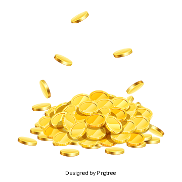 Vector coins gold. Coin clipart png vectors