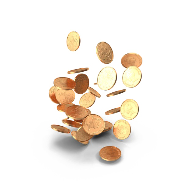 Gold coins falling png. Image mart