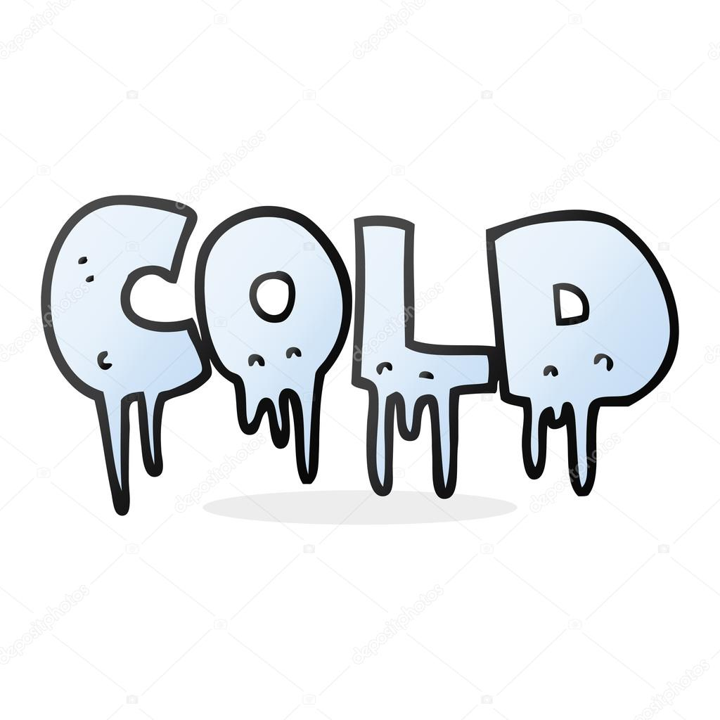 Cold clipart cold word. Cartoon stock vector lineartestpilot