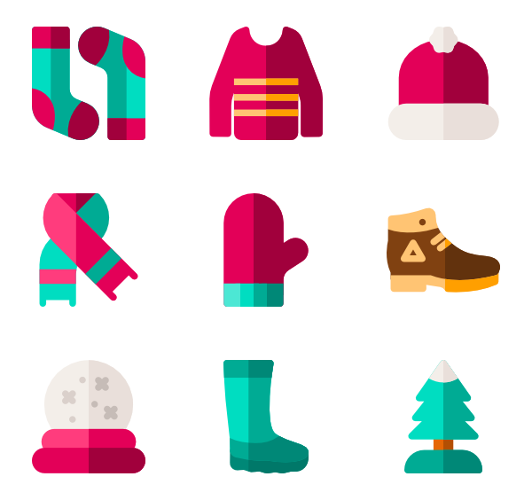 Cold vector. Icons free winter
