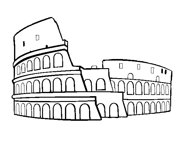 Coliseum drawing. Colosseum coloring pages google