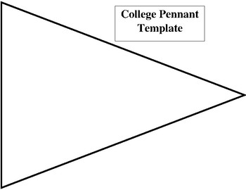 College clipart pennants. Pennant template teaching resources