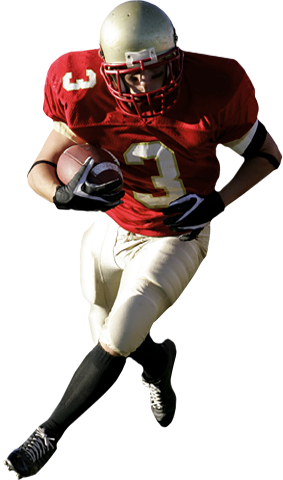 College football player png. American