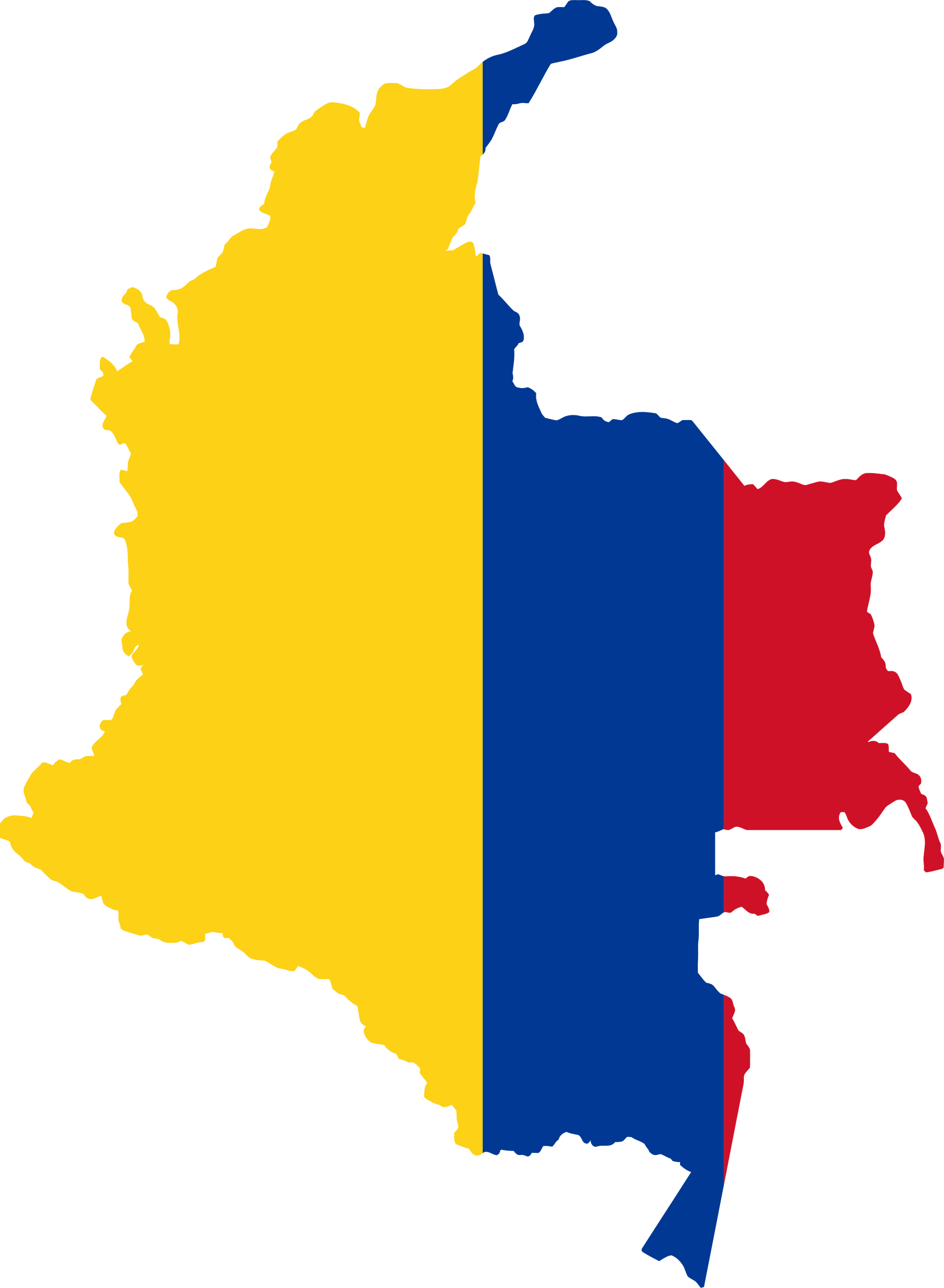 Colombia map png. Flag icons free and
