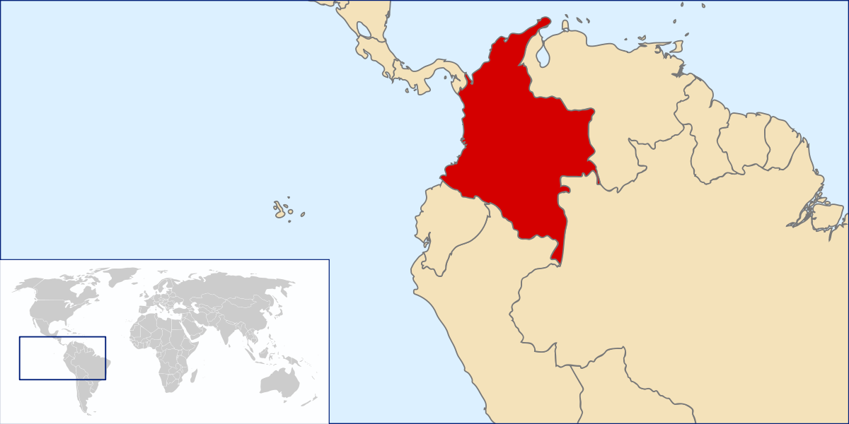 Colombia map png. Atlas of wikimedia commons